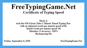 Take the Certificate Typing Test